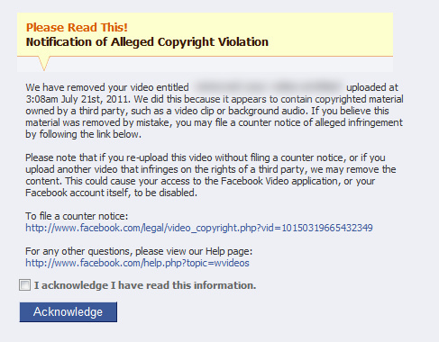 how to avoid copyright infringement facebook