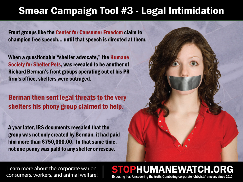 Smear Campaign Tools Exposed Legal Intimidation Stop Humanewatch